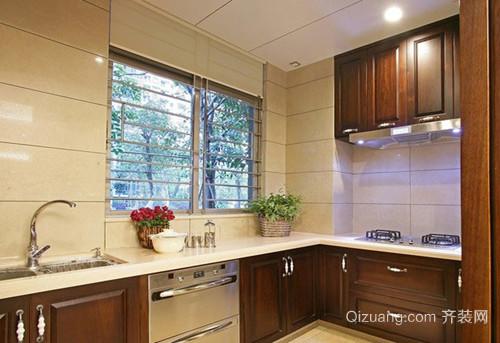 110㎡欧式风格厨房设计装修效果图