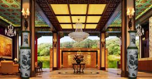 中式酒店大堂装修效果图