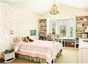 小户型卧室无纺布墙纸装修效果图