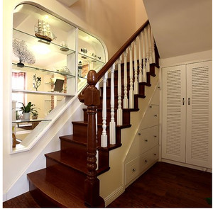 美式古典和现代式楼梯装修效果图