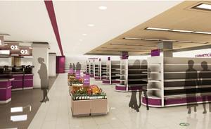 超市货架室内装修效果图