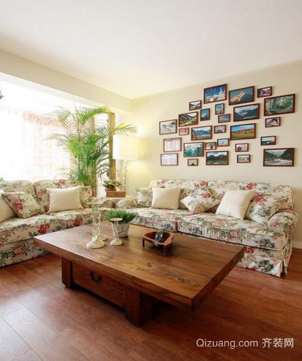 田园风格客厅照片墙装修效果图