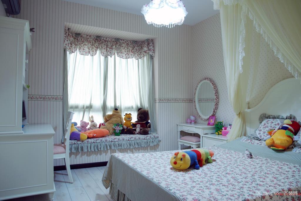 小户型单身公寓田园风格卧室背景墙装修效果图