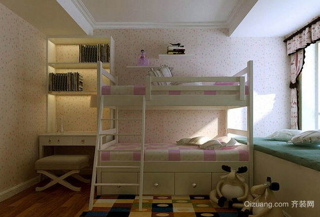 儿童房小卧室实木床装修效果图