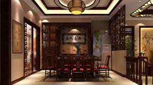 中式风格个性化饭店装修效果图
