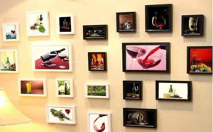 现代简约精致创意照片墙装修效果图