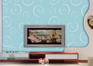 三室两厅两卫艺术玻璃背景墙装修效果图