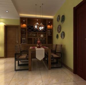 100平米东南亚风格客厅吧台装修效果图