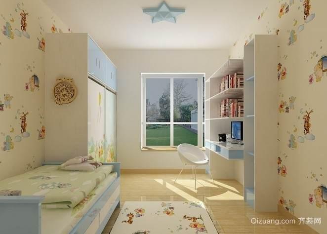 儿童卧室榻榻米装修效果图