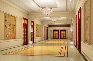 酒店中式过道装修设计图