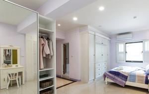 2室1厅1卫的美式乡村风格复式楼装修效果图