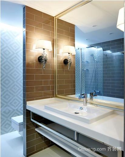 52平优雅沁蓝小公寓装修风格设计图
