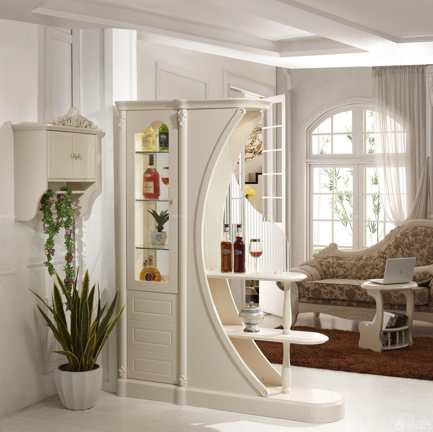 120平米大户型现代欧式客厅酒柜装修效果图