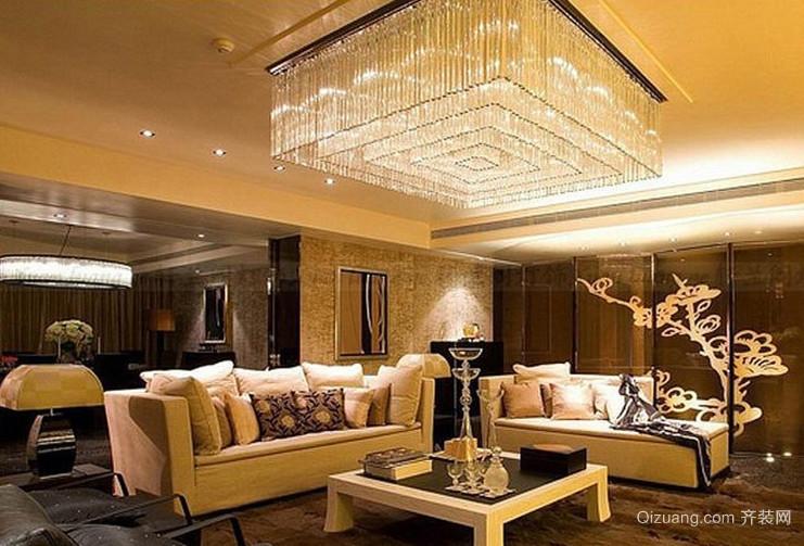 酒店大堂吊顶灯饰装修效果图