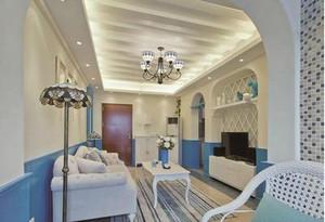 地中海简约客厅吊顶装修效果图