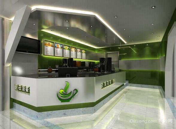 奶茶店室内装修设计效果图