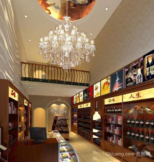 中式风格烟酒店装修效果图