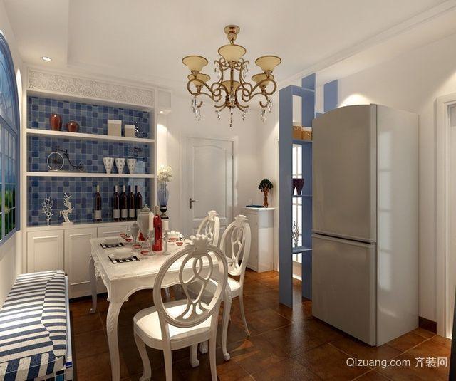 大户型地中海风格客厅酒柜背景墙装修效果图
