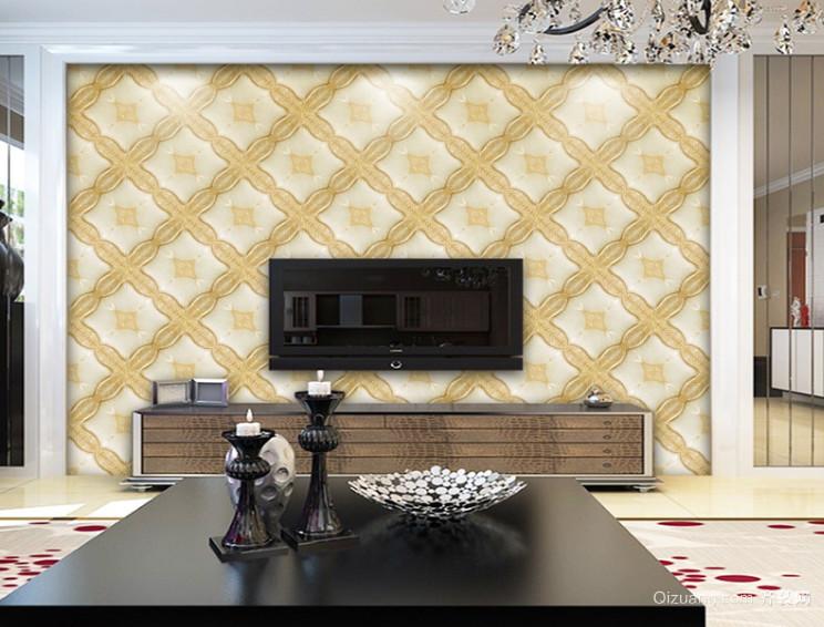 精美欧式3D浮雕软包花纹背景墙装修效果图