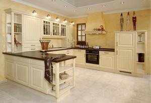 复式楼欧式厨房整体橱柜装修效果图