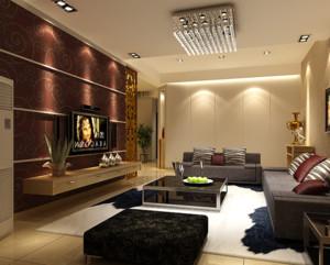 110平米都市混搭风格客厅装修效果图