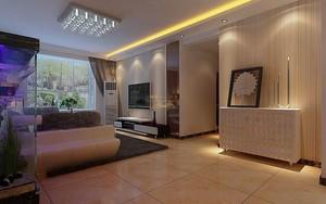 大户型现代欧式客厅飘窗背景墙设计装修效果图