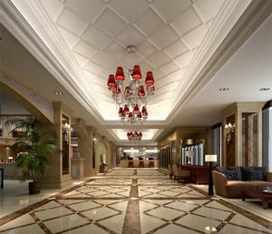 五星酒店欧式走廊效果图