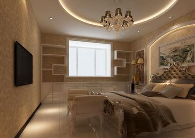 歐式風格臥室壁紙裝修效果圖