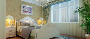 中小户型田园风格卧室背景墙设计装修效果图