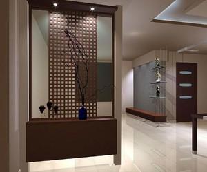 三室二厅宜家欧式客厅进门玄关鞋柜装修效果图