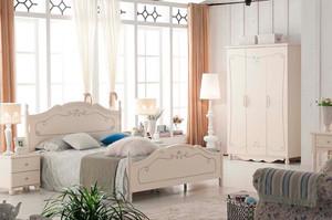100㎡素雅韩风卧室背景墙设计装修效果图