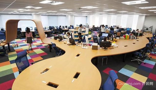 美式风格办公楼办公室装修效果图