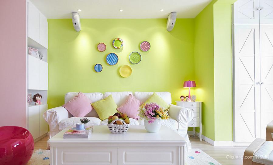 大户型现代欧式风格客厅墙面漆背景墙装修效果图