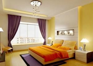 三室二厅现代欧式婚房卧室背景墙装修效果图