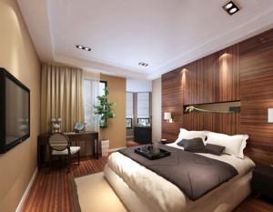 70平米现代简约中式卧室装修效果图