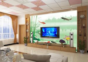单身公寓宜家欧式客厅电视背景墙装修效果图