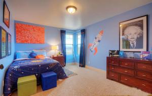 70平米轻快自然儿童卧室壁纸装修效果图