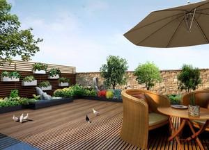 欧式风格别墅屋顶花园装修效果图