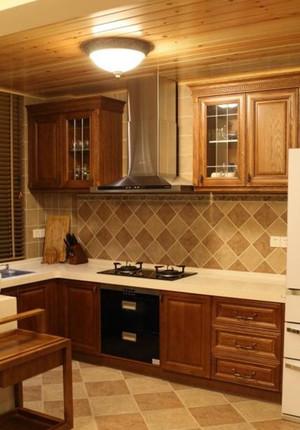 120㎡东南亚风格厨房设计装修效果图