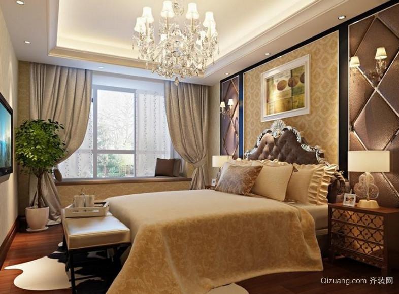 120平方米东南亚风格卧室背景墙设计装修效果图