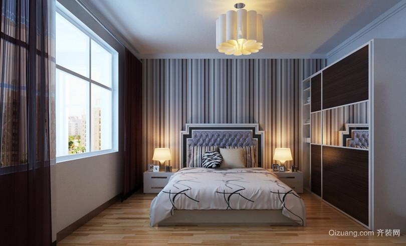 90㎡简约风格卧室背景墙设计装修效果图