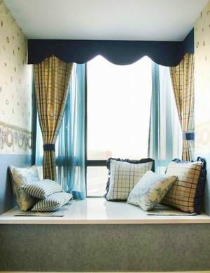 交换空间小户型飘窗窗帘设计装修效果图