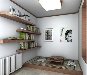 日式精致书房装修设计效果图