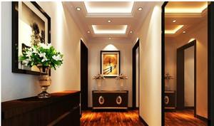 大户型室内客厅石膏线吊顶装修效果图