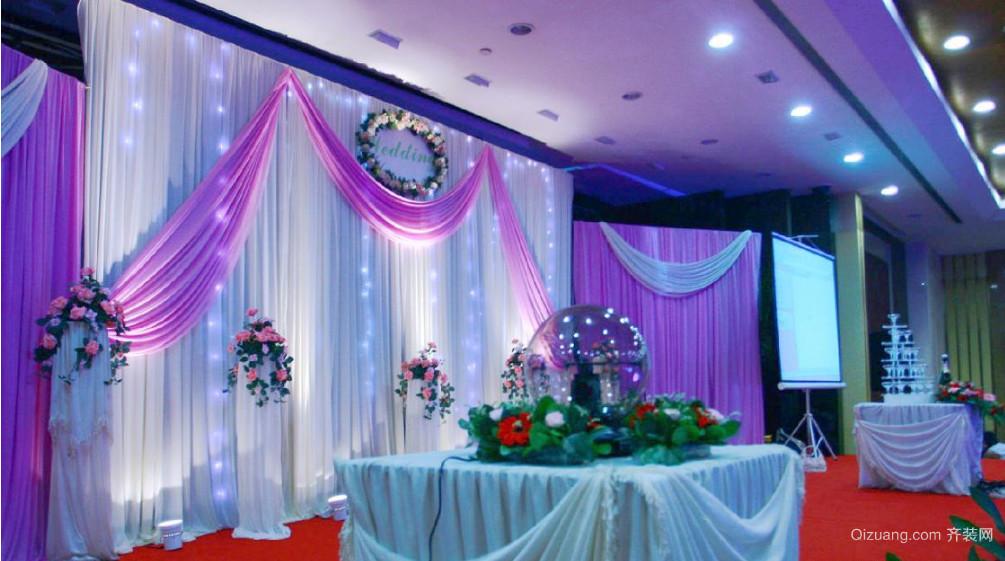 浪漫紫色婚庆室内设计布置
