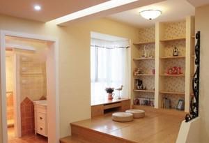 70平米现代简约风格卧室榻榻米装修效果图