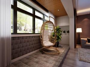 三室二厅现代宜家阳台榻榻米装修效果图