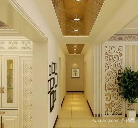 现代简约家庭走廊吊顶装修效果图