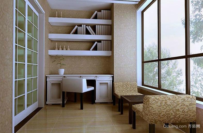 30平米现代简约阳台书房装修效果图