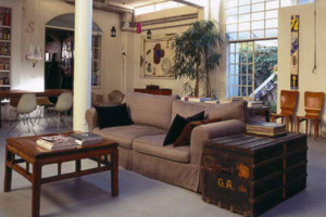 70平米美式混搭风格客厅装修效果图